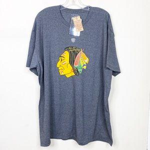 NWT Chicago Blackhawks Gray Short Sleeve Shirt XXL